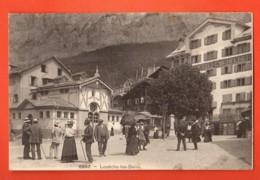 TRF-22 Louèche-les-Bains, Loèche-les-Bains, TRES ANIME. Hotel De La Maison Blanche. Non Circulé - VS Valais