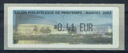 France, ATM Label, Philatelic Exhibition, Nantes, 2003, 0,41€, MNH VF - 2010-... Illustrated Franking Labels