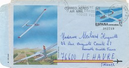 ESPAGNE - AEROGRAMME CAD 30/7/1985 POUR LE HAVRE FRANCE - Entiers Postaux