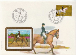 Switzerland Special Cover With Christine Stückelberger - Horses
