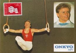 Switzerland Maximum Card With Markus Ryffel - Gymnastics