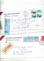 Lettre Recommandee Beziers Sur Vignette Machine  Liberté 2 Types Lieu - Marcophilie (Lettres)