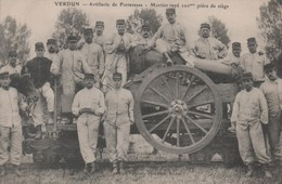 VERDUN - Artillerie De Forteresse - Mortier Rayé 220 Mm Pièce De Siège - - Verdun