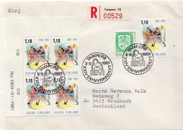 Postal History Cover: Finland Cover - Boxing
