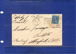 ##(DAN1812)-Postal History- Canada 1910- Cover From Winnipeg To Monforte D'Alba-Italy  Via Havre - 1911-1935 Regno Di George V