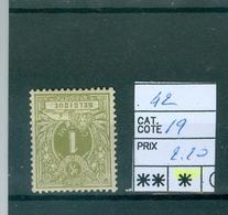 42   X Côte 19€ - 1869-1888 Lying Lion