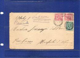 ##(DAN1812)-Postal History- Canada 1910- Cover From Winnipeg To Monforte D'Alba-Italy  Via Havre Or London - 1911-1935 Regno Di George V