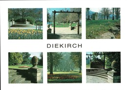 Diekirch: Le Parc Municipal 6 Vues, Carte Dimension Semi-moderne Non-postée - Diekirch