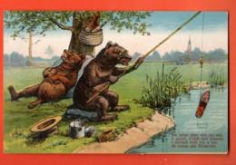TRF-38 Humor,  über Alte Bärnerbär, Ours Bernois, Kanton Bern. GElaufen. - BE Berne