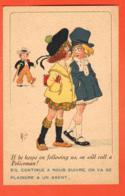 TRF-40 Mich Fillettes Et Jeune Dandy. On Va Se Plaindre à Un Agent... Will Call A Policeman.Circulé 1925 - Mich