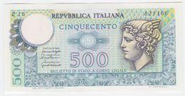 Italy P 95 - 500 Lire 20.12.1976 - AUNC - [ 2] 1946-… : Repubblica