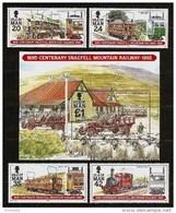 ISLE Of MAN 1995 - Centenary SNAEFELL MOUNTAIN RAILWAY - Bloc 22 (mi 621) + 4v (mi 617-620) MNH ** Cv€10,00 N288 - Man (Insel)