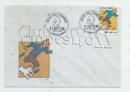 Hergé (Illustrateur) : Enveloppe Maximaphile Oblitération, Illustration, TP Sur Tintin Combs-la-Ville N 2000 (animée) GF - Hergé