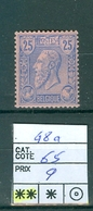 48a Xx Côte 65€ - 1884-1891 Leopold II