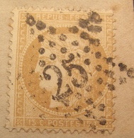 R1712/84 BIS - CERES N°59 (fragment) ETOILE N°25 De PARIS - 1871-1875 Ceres