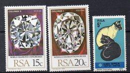 AFRIQUE DU SUD -  Timbres Neufs ** De 1972 Et 1980   (ref 2646 ) Chats - Diamants - Afrique Du Sud (1961-...)