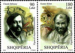 Albania Stamps 2018. Personalities: Claude Debussy; Gustav Klimt. Set MNH - Albania