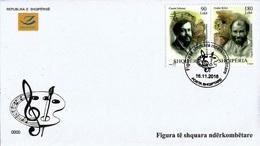 Albania Stamps 2018. Personalities: Claude Debussy; Gustav Klimt. FDC MNH - Albania