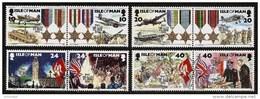 ISLE Of MAN 1995 - 50th Anniv END OF WW2 - 4pairs Mi 629-636 MNH ** Cv€7,00 N291 - Man (Insel)