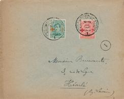 685/27 - Lettre TP Croix-Rouge 5 C + 10 C - Cachet Foire Commerciale De Bruxelles 1920 Vers HEVERLE - TARIF 15 C - 1918 Rotes Kreuz