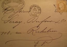R1712/85 - CERES N°59 (devant De ✉️) ETOILE N°3 De PARIS - CàD : PARIS PLACE DE LA MADELEINE / 7 NOVEMBRE 1873 - 1871-1875 Cérès