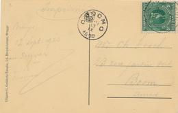 686/27 - Carte-Vue BRUGGE TP Jeux Olympiques 5 C  BRUGGE 1920 Vers BOOM - COB 25 EUR S/ Document - Covers & Documents
