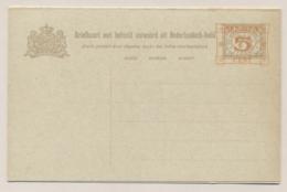 Nederlands Indië - 1929 - 5+5 Op 7,5+7,5 Cent Cijfer, Briefkaart G47 - Ongebruikt - Nederlands-Indië