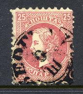 SERBIA 1869-79 Prince Milan 25 Para 1st Printing Perf. 9½:12 Used.  Michel 15 I C - Serbia