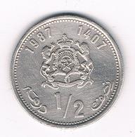 1/2 DIRHAM 1987  MAROKKO /8171/ - Maroc