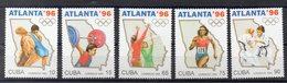CUBA-  Timbres Neufs ** De 1995  (ref 2654  ) SPORT - JO - Voir Descriptif - Cuba
