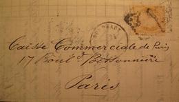 R1712/91 - ✉️ (LAC) - CERES N°38 - GC 532 : BORDEAUX / 21 FEVRIER 1873  - BORDEAUX > PARIS - 1870 Siège De Paris