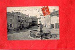 E0212 - ROMANECHE THORINS - D71 - Place Et Statue De Raclet - Hôtel Du Nord - France