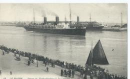 """Boot - Boat - Bateaux - Ship - Shiff - 43 - Le Havre - Départ Du Transatlantique """" La Lorraine """" L.L. - 1916 - Le Havre"""