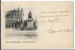 Place De PHILIPPEVILLE - Statue Marie-Louise 1902 - Philippeville