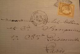 R1712/92 - ✉️ (LAC) - CERES N°59 - ETOILE N°28 De PARIS - CàD : PARIS GARE DU NORD / 4 OCTOBRE 1871 - 1870 Siege Of Paris