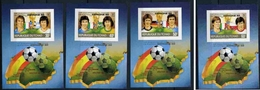 TCHAD Football, Coupe Du Monde 82. Bloc De Luxe Yvert 399E/H NON Dentelé (Imperforate) ** MNH - World Cup