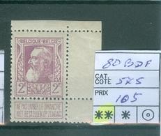 80 Xx Bord De Feuille  Côte 575€ - 1905 Thick Beard