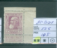 80 Xx Bord De Feuille  Côte 575€ - 1905 Grosse Barbe