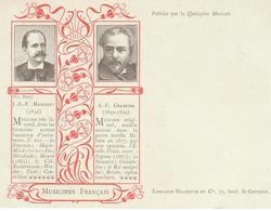 Musiciens Francais Quinzaine Musicale Librairie Hachette MASSENET J E F & A E CHARRIER - Musique Et Musiciens