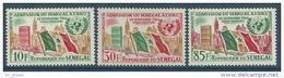 """Senegal YT 210 à 212 """" Admission à ONU """" 1962 Neuf** - Sénégal (1960-...)"""