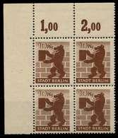 SBZ BERL. BRANDENB. Nr 4Aawaz Postfrisch VIERERBLOCK EC X810202 - Sowjetische Zone (SBZ)