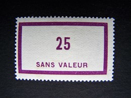 FICTIFS NEUF * N°F 58 AVEC CHARNIERE (FICTIF F58) - Fictifs