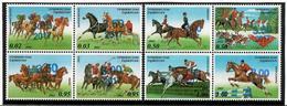 Tajikistan. 2017 Horses. Overprint 8v: 4x3.00,4x3.50 Michel# 767-74A - Tadjikistan