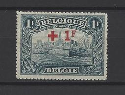 BELGIQUE  YT   N°160  Neuf *  1918 - 1918 Croce Rossa