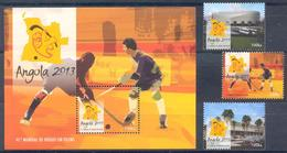 Angola 2013 Sport. Hockey. World Cup, 3 M. Block - Angola