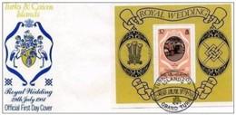 TURKS & CAICOS ISLANDS- 23 6 1981 BUSTA FDC MATRIMONIO CARLO D'INGHILTERRA CON DIANA S. - Turks E Caicos