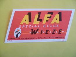 étiquette Ancienne Brasserie WIEZE VAN ROY  Alfa - Bier