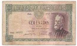 Portugal - 100, Cem Escudos / 28 De Junho De 1957 - Portugal