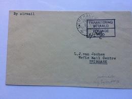 NETHERLANDS NEW GUINEA 1945 Cover - Merauke To Brisbane Australia With Relief Franking `Frankeering Betaald` - Netherlands New Guinea
