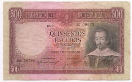 PORTUGAL Portuguese 500 Escudos 1952 - Portugal